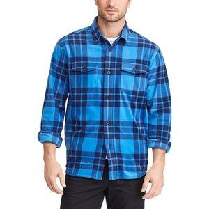Chaps by Ralph Lauren Plaid Fleece Shirt Jacket